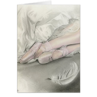 Dance of the Swan Greeting Card