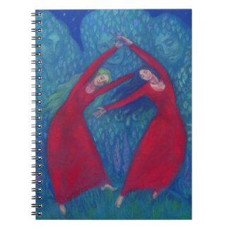 Dance of the witches, pastel painting, fantasy art notebook