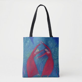 Dance of the witches, pastel painting, fantasy art tote bag