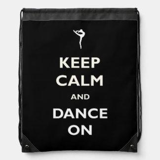Dance On Black Drawstring Backpack