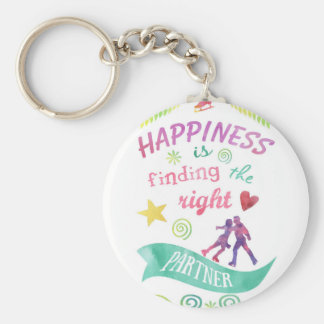Dance Partner Ice Skate Design Basic Round Button Keychain