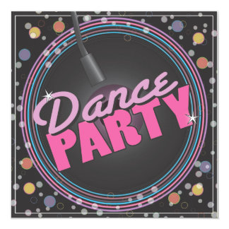 Dance Party Celebration Invitation