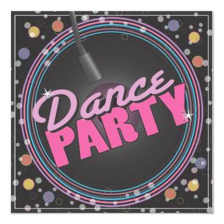 Dance Party Celebration Invitation