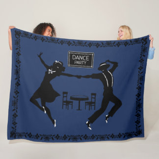 DANCE PARTY----CHANGEABLE BACKGROUND COLOR- FLEECE BLANKET