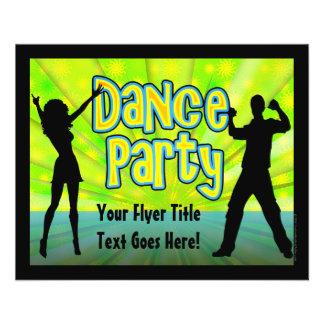 Dance Party, Neon Green/Black Flyers