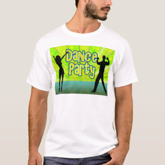 Dance Party, Neon Green/Black T-Shirt