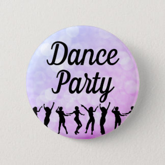 Dance Party Silhouette Dancers 2 Inch Round Button