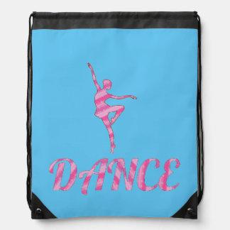 DANCE pink and blue Drawstring Bag
