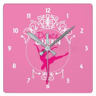 Dance Queen Ballet Dancing Theme Cute Square Wall Clock