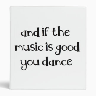 Dance quote binder