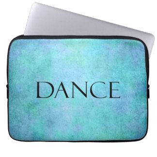 Dance Quote Teal Blue Watercolor Dancing Template Laptop Sleeve