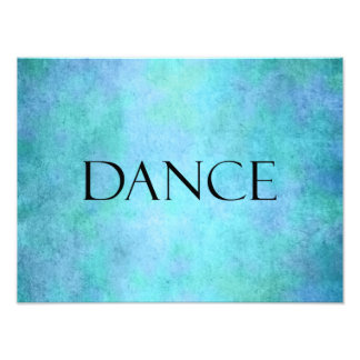 Dance Quote Teal Blue Watercolor Dancing Template Photo