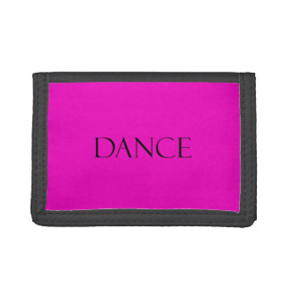Dance Quotes Hot Pink Inspirational Dancing Quote Trifold Wallets
