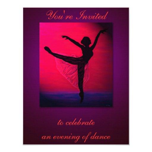 Dance recital custom invitation zazzle for Zazzle custom t shirts