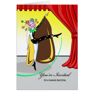 Dance Recital Invitation, Dancer on Stage Card
