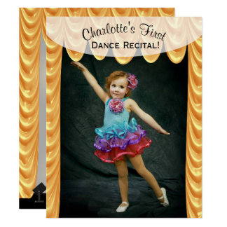 Dance Recital Photo Template Invitation