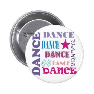Dance Repeating 2 Inch Round Button