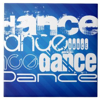Dance; Royal Blue Stripes Tiles