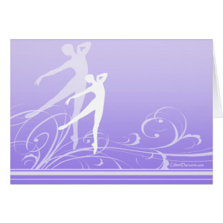 Dance Scroll Note Card (customizable)