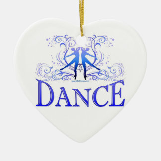 Dance Scrolls Porcelain Heart Ornament