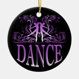Dance Scrolls Porcelain Ornament (purple)