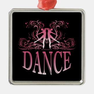 Dance Scrolls Premium Square Ornament (rose)