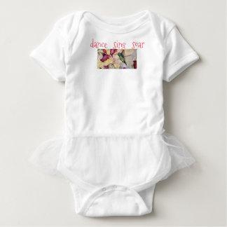 Dance Sing Hummingbird Art Baby Girl Tutu Baby Bodysuit