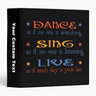 Dance Sing Live Vinyl Binders