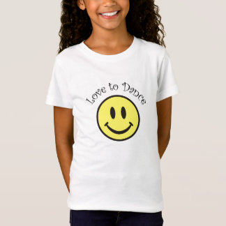 Dance Smiley Face Baby Doll T-shirt