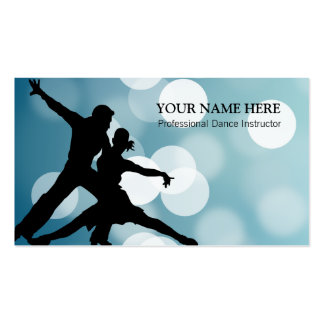 Dance Sport Instructor Business Card Template
