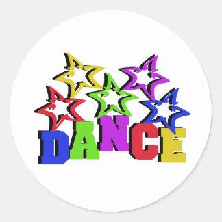 Dance Stars Classic Round Sticker