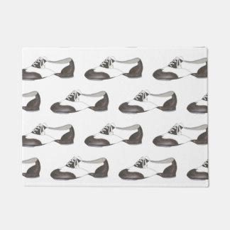 Dance Studio Center Black and White Tap Shoe Decor Doormat