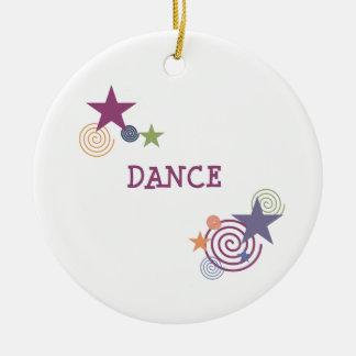 Dance Swirl Ceramic Ornament
