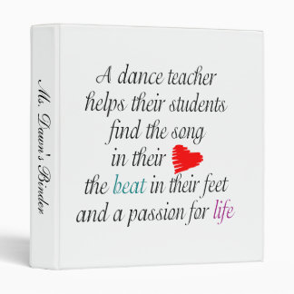 Dance Teacher Binder