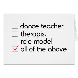 Dance Teacher Greeting Card