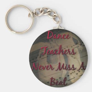 Dance Teachers Never Miss a Beat Basic Round Button Keychain