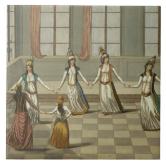 Dance that is fashionable with the Greek women of Tiles
