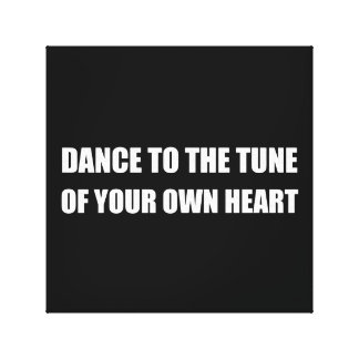 Dance To Own Heart Canvas Print