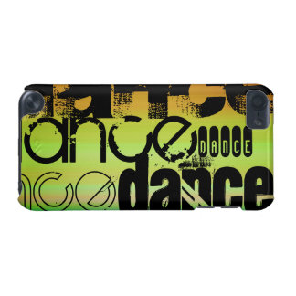 Dance; Vibrant Green, Orange, & Yellow iPod Touch 5G Cover