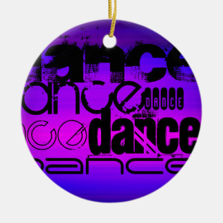 Dance; Vibrant Violet Blue and Magenta Ceramic Ornament