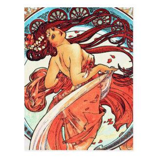 Dance - Vintage Art Nouveau by Mucha Postcard