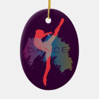 Dance Watercolor Ceramic Ornament