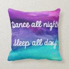 Dance Watercolor Pillow
