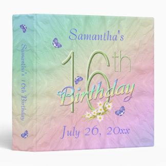 Dance With Butterflies 16th Birthday Keepsake 3 Ring Binders