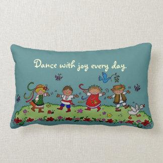 Dance With Joy Every Day Lumbar Pillow