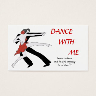 Dance With Me Business Card