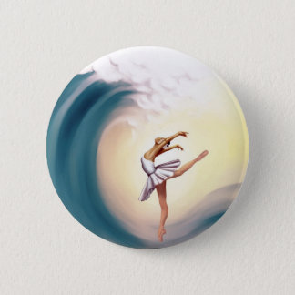 Dance with waves 2 inch round button