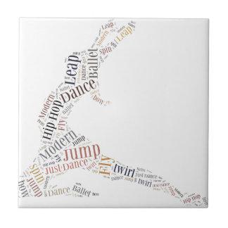 Dance Word Cloud Ceramic Tile