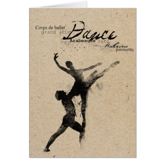danced stamped card