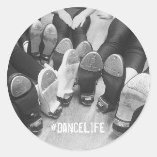 #DanceLife Tap Dance Classic Round Sticker, Glossy Classic Round Sticker